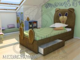 Кровать Shale Медвежонок 70х160